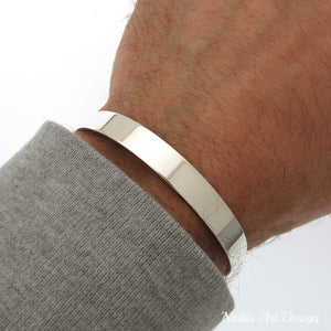 High Polished Silver Cuff