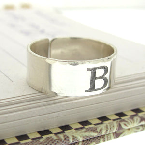 Mens Sterling Silver Thumb Ring