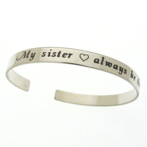 Sorority Sister gift - Engraved bracelet
