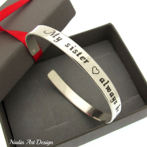 Quote sister bracelet - Sorority Bracelet