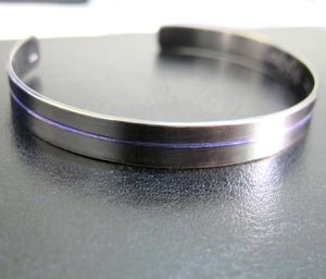 Thin Blue Line Bracelet - Gift for Police Officer