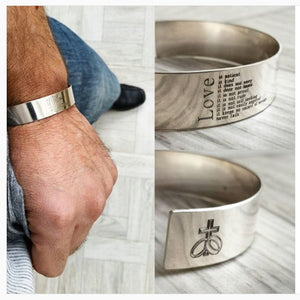 LOVE mens bracelet - expensive mens jewelry with engraving - Personalized mens bracelet