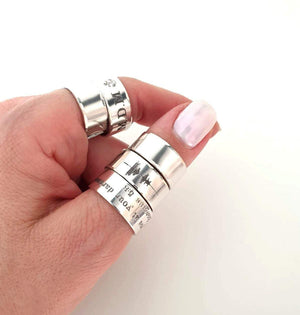 Engraved Thumb Ring - Personalized Thumb band