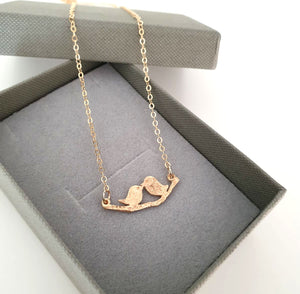 Bird On Branch Pendant Necklace for Her