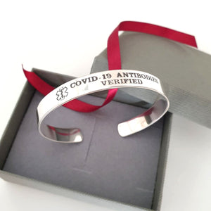 Stylish Medical Alert Bracelet - Custom Allergy Cuff Bracelet