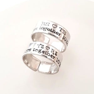 Anniversary Ring for couple - Promise Ring
