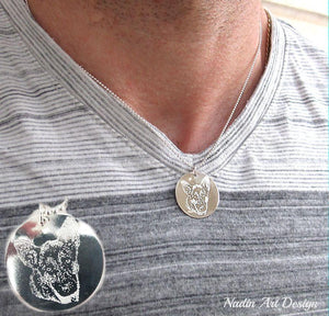 Pet picture necklace