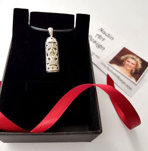 Protect Necklace - Mezuzah Pendant Jewish Jewelry