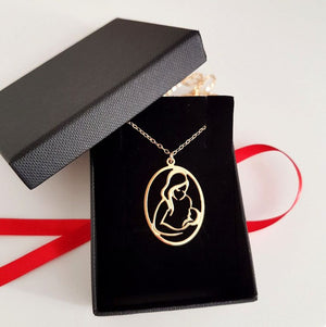 Mother and child necklace - New mom gift