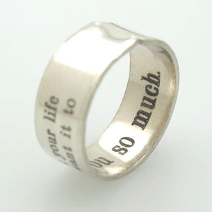 Mens Sterling Silver Signet Ring