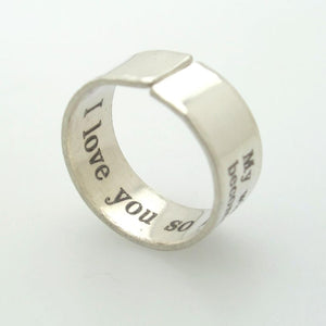 Pure Sterling Silver Band - Custom Engraved Ring