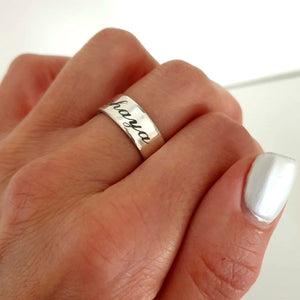 Name Ring - Sterling Silver Ring for her