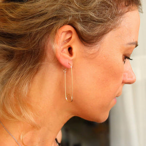 Safety Pin Earrings for women