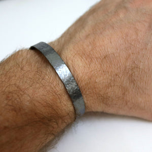 Antiqued Finish Cuff - Black Bracelet for Men
