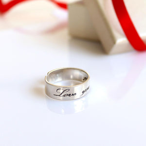 Love Message Ring for her