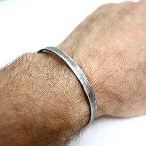 Antiqued Finish Plain Cuff Bracelet