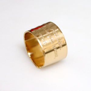 Wedding Large Gold Ring