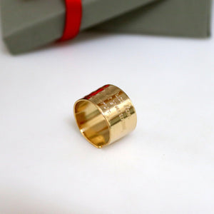 Personalized Wide Pinky Gold Ring for Men