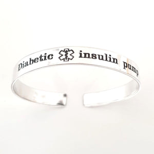 Custom Diabetes Engraving Medical ID Bracelet