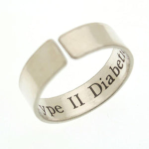 Personalized Medical Alert EMT Symbol Ring
