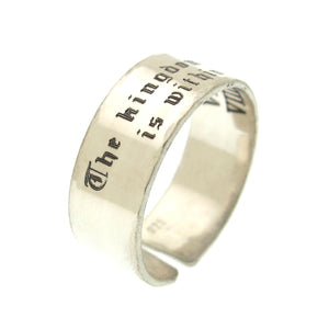 Custom Engraved Ring for Men and Women