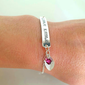 Latitude Longitude Bracelet - Personalized Wife Gift
