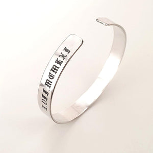 Anniversary Gift For Husband - Sterling Silver Cuff Bracelet