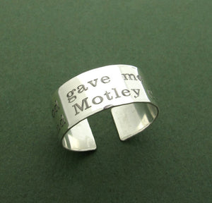 Inspirational Ring - Engraved Quote Ring