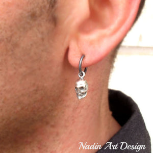 Skull Earring for Men