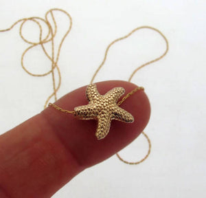 Sea Star Pendant Gold Necklace