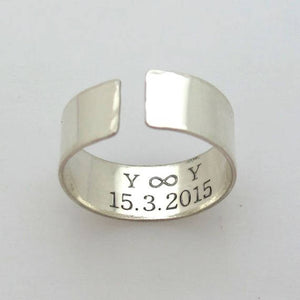 Unique Sterling Silver Band with text