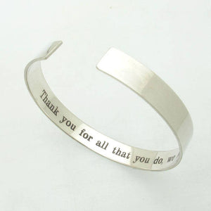 Inside Engraved bracelet - Hidden message Gift