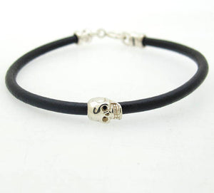 Skull Bracelet - Leather bracelet for Men