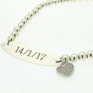 Crystal Heart Locket Bracelet