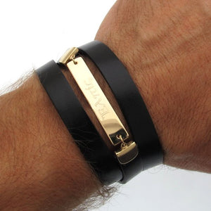 Mens Personalized Wrap Bracelet