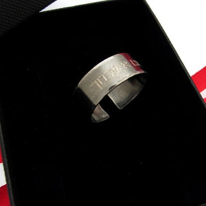 Custom Viking Ring - Elder Futhark Runes Ring