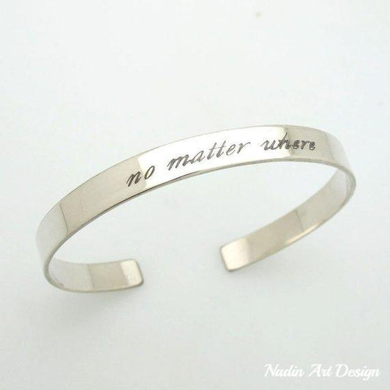 Message Cuff Bangle for her