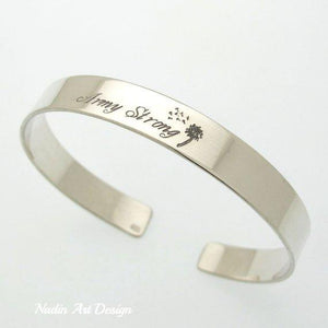 Army daughter silver bracelet