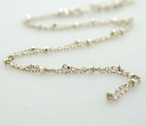 Sterling Silver Beaded Choker