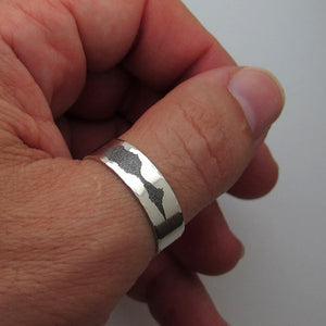 Black Silver Ring for Men