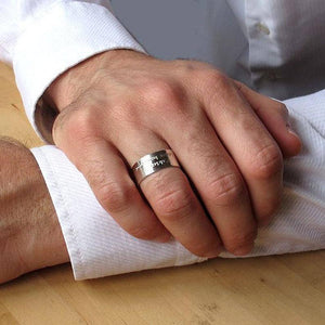 Hammered Edge Ring for Men