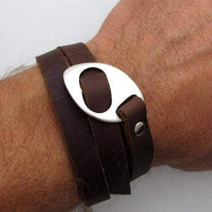 Personalized Leather Bracelet - Fathers Day Gift
