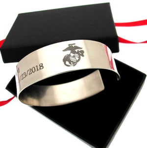 Air Force gift - Personalized Mens Cuff Bracelet
