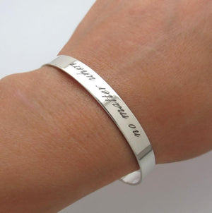 Sterling Silver Personalized Message Bracelet