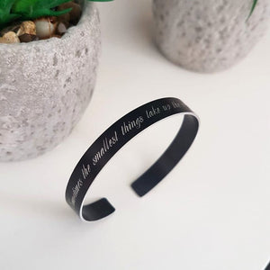 Custom Black bracelet for men