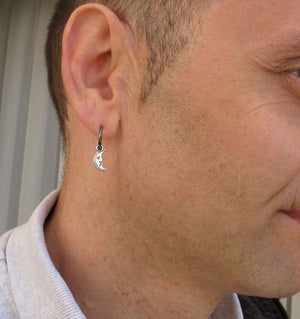 Crescent Earring for men