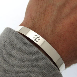 Men's Medical Alert ID Bracelet
