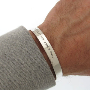 Father's Day Gift - Engraved Sterling Silver Bracelet