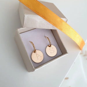 Initial Earrings - Birthday gfit for her