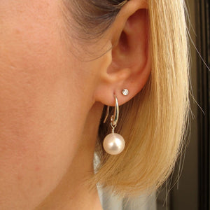 Ivory Freshwater White Pearl Earrings